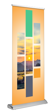 """Deluxe Retractable - Double Sided 33""""x81"""""""